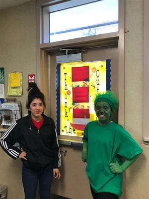 Middle Schoolers supporting Dr. Seuss week